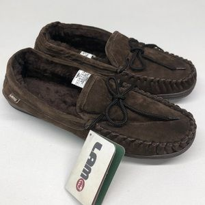 NEW Lamo Mens Moccasin Suede Slippers 11
